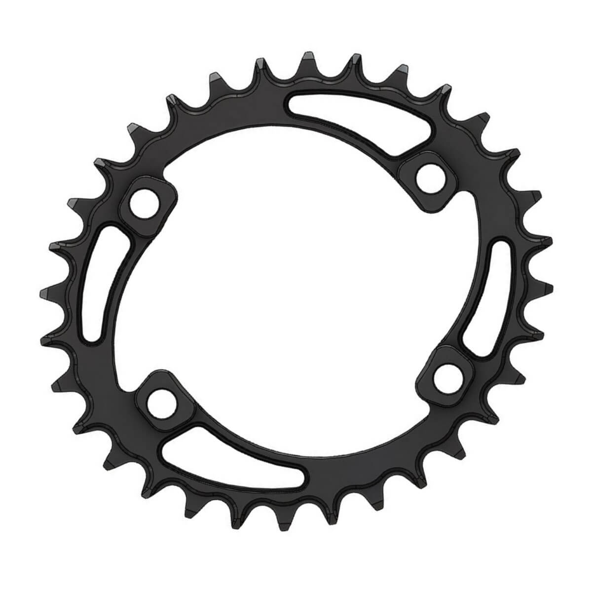C17 Chainring Elliptic Narrow Wide 32T for Shimano 96BCD Asymmetric.