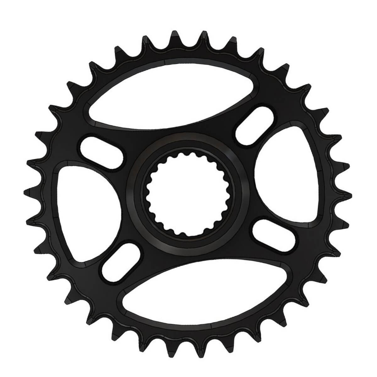 C24 Pilo Chainring Narrow Wide 36T for Shimano direct. Fits XTR FC-M9100-1 XC Race crank 1x12-speed.