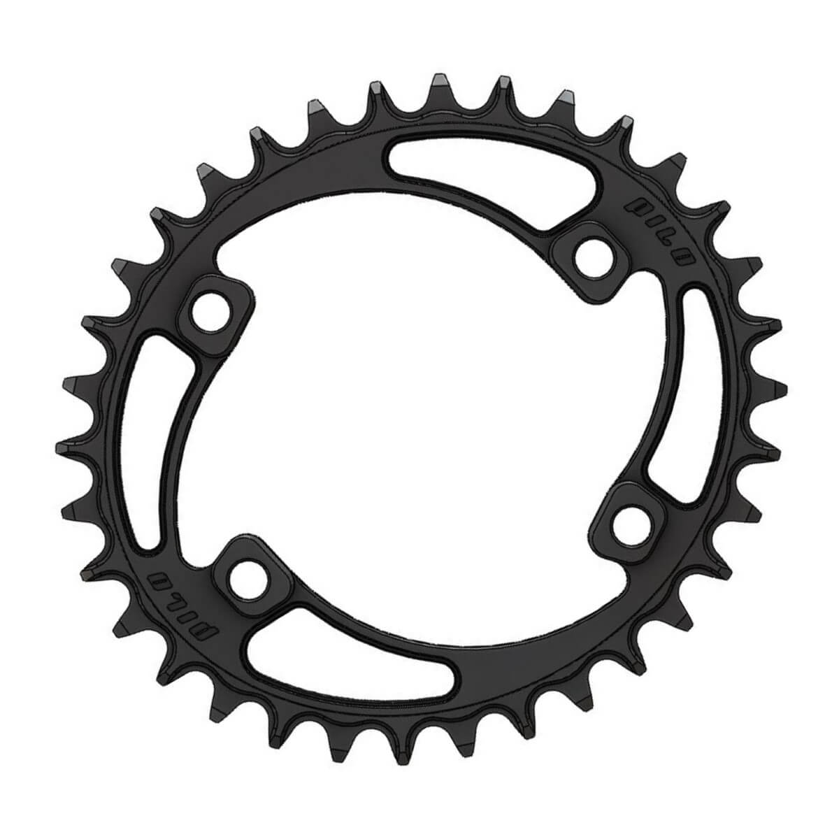 C25 Chainring Elliptic Narrow Wide 34T for Shimano 96BCD Asymmetric 1