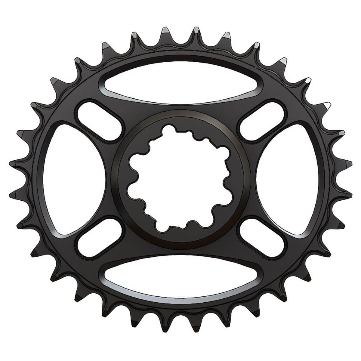 Pilo C57 Chainring Elliptic Narrow Wide 32T for Sram direct dub. Offset: 3 mm