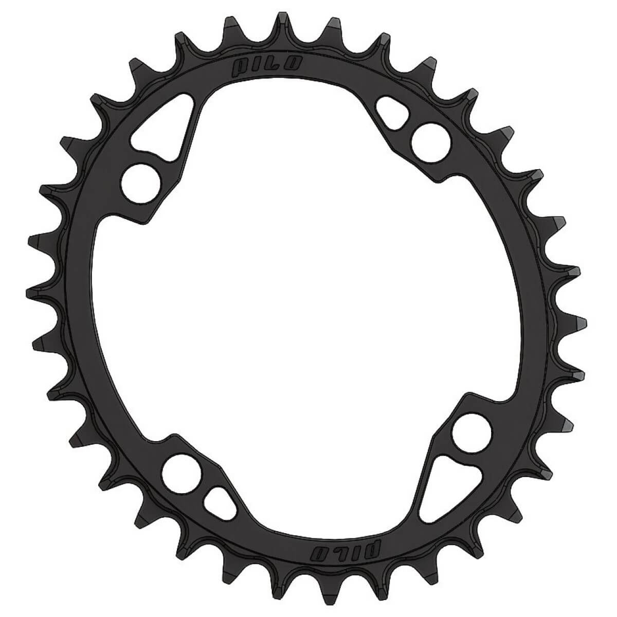 Pilo C64 Chainring Elliptic Narrow Wide 34T Shimano 104 BCD