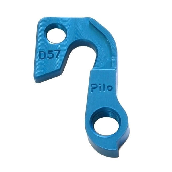 D57 derailleur hanger for GT, KHS (Blue) bikes (rear gear mech, dropout)