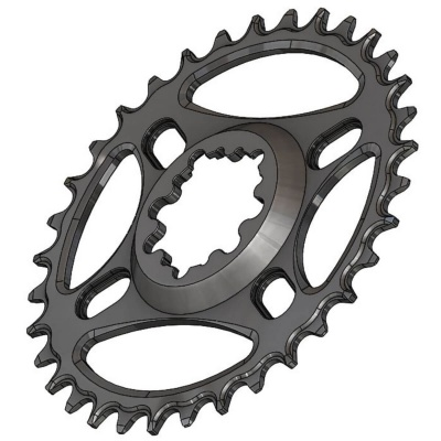 C16 Chainring Narrow Wide 34T for Sram direct mount. Offset 6 mm. Fits Sram Eagle.