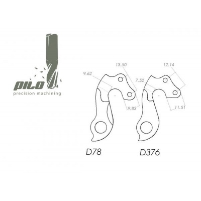 D376 derailleur hanger for Skyde bikes (rear gear mech, dropout) 2