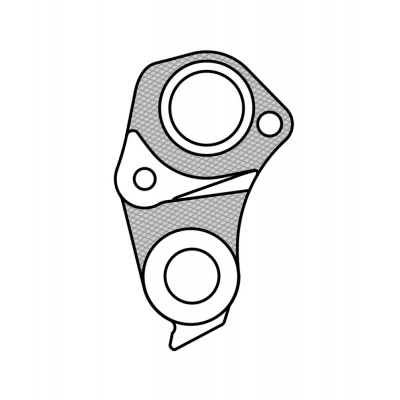 Marwi UNION GH-261 derailleur hanger rear drawings